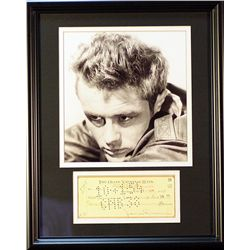 James Dean   Giclee with Image of a real check