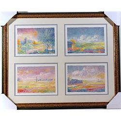 4  Pieces Color Lithograph by Jean Fomard