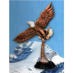 Bronze Sculpture - Majestic Eagle by De Lier