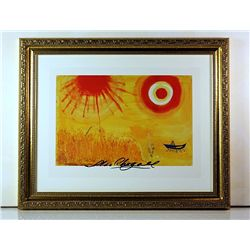 Marc Chagall Original Lithograph - A Wheatfield on a Summer's Afternoon