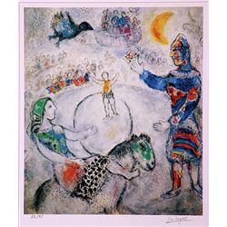 Marc Chagall  Signed Limited Edition - The large Grey Circus