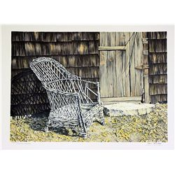 Helen Rundell Signed and Numbered Original Lithograph - Behind David's Barn