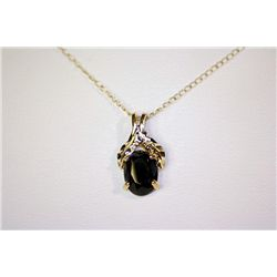 Lady's Fancy 14 kt Yellow Gold Blue Sapphire Necklace