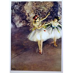 Two Dancers on a Stage by Degas