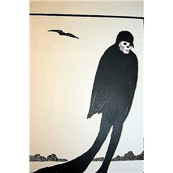 ONE OF A KIND ORIGINAL LITHOGRAPH BY ARTIST AUBREY BEARDSLEY