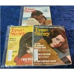 "8. Feb. 1965, Oct. & Nov. 1966 ""True Story"" Magazines."