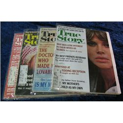 "9. Sept. & Dec., 1966, Aug. 1967, & Sept. 1974 ""True Story"" Magazines."