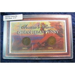 "17. ""America's Classic Indian Head Penny"" in a Plastic hard case."