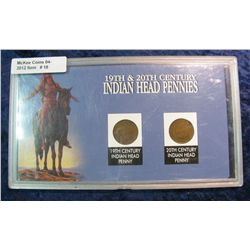 "18. ""19th & 20th Century Indian Head Pennies"" in a Plastic hard case."