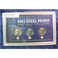 "22. ""Complete 1943 Steel Penny Mint Mark Collection"""