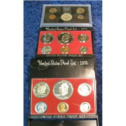 32. 1969S Silver, 74S, & 76S U.S. Proof Sets. Original as issued.