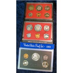 34. 1969S Silver, 80S, & 82S U.S. Proof Sets. Original as issued.