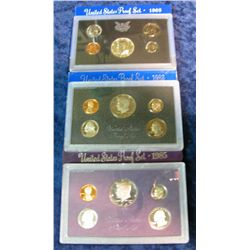 35. 1969S Silver, 83S, & 85S U.S. Proof Sets. Original as issued.