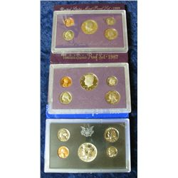 36. 1969S Silver, 87S, & 89S U.S. Proof Sets. Original as issued.