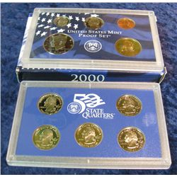 43. 2000 S U.S. Proof Set. Original as issued.