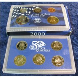 44. 2000 S U.S. Proof Set. Original as issued.