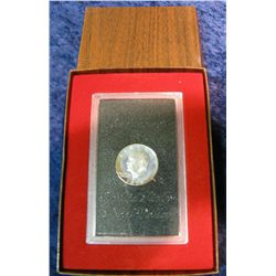 45. 1971 S Silver Proof Eisenhower Dollar in original brown box.