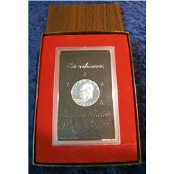 46. 1972 S Silver Proof Eisenhower Dollar in original brown box.