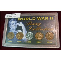 121.  World War II Penny Collection  in a special hard plastic case.