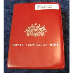 139. 1970 Australia Mint Set. Six-Piece. In original vinyl holder.