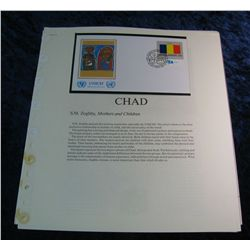 254. Chad Official First Day Cover with lots of literature.