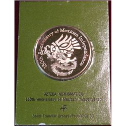 255. Azteca Numismatica 150th Anniversary of Mexican