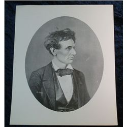258. Ca. 1909 Brady Print of Abraham Lincoln. Ready to
