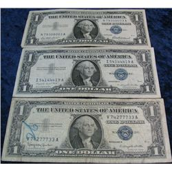 268. Series 1957, 57A, & 57B $1 Silver Certificates. G-VF.