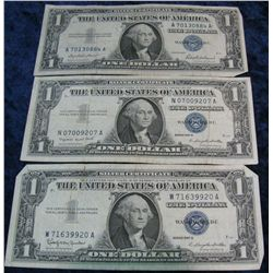 269. Series 1957, 57A, & 57B $1 Silver Certificates. G-VF.