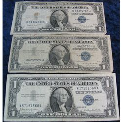 272. Series 1935G, 57A, & 57B Silver Certificates. G-F.