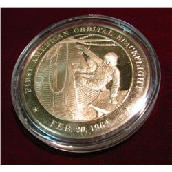 "285. 1962 ""First American Orbital Space flight"" Proof Bronze Medal."