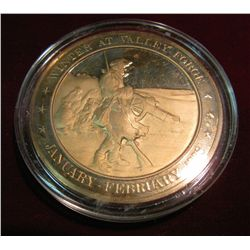 "286. 1778 ""Winter at Valley Forge"" Proof Bronze Medal."