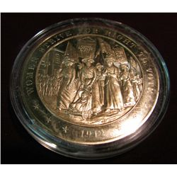 "292. 1912 Proof Bronze Medal ""Women Strive for Right to Vote"""