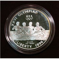 617. 1996P Olympics Silver Dollar. Rowing Proof.