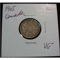 855. 1905 Canada 10-Cents. VG+.