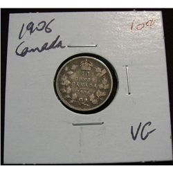 857. 1906 Canada 10-Cents. VG.