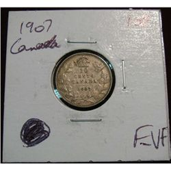 859. 1907 Canada 10-Cents. F-VF.