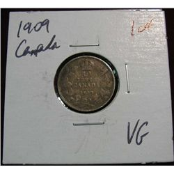 861. 1909 Canada 10-Cents. VG.