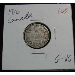 862. 1910 Canada 10-Cents. G-VG.