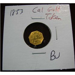 970. 1853 25c Liberty Octagonal California Token.