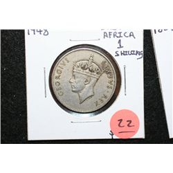 1948 East Africa 1 Shilling Foreign Coin