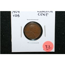 1909 VDB Wheat Back Penny