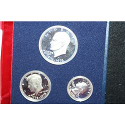 1976-S US Bicentennial Mint Silver Three Coin Proof Set, 40% Silver