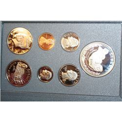 1991-S US Mint Prestige Proof Set W/Commerative Mt. Rushmore Half Dollar & Commerative $1 Coin