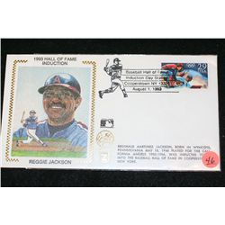 1993 MLB Hall of Fame Induction-Reggie Jackson Envelope W/Cooperstown NY Postal Stamp from Day of In