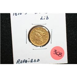 1878-S Liberty $2 1/2 Gold Coin, Repaired