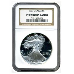 1987 S   NGC PF69UCAM American Silver Eagle   Proof Ultra Cameo