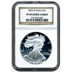 2003-W  NGC PR69UCAM  American Silver Eagle          Proof Ultra Cameo