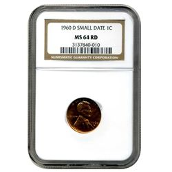 1960-D NGC MS-64 Red  Small Date  1c.