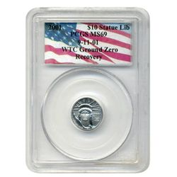 2001 PCGS MS-69  $10 Platinum American Eagle  World Trade Center Recovery